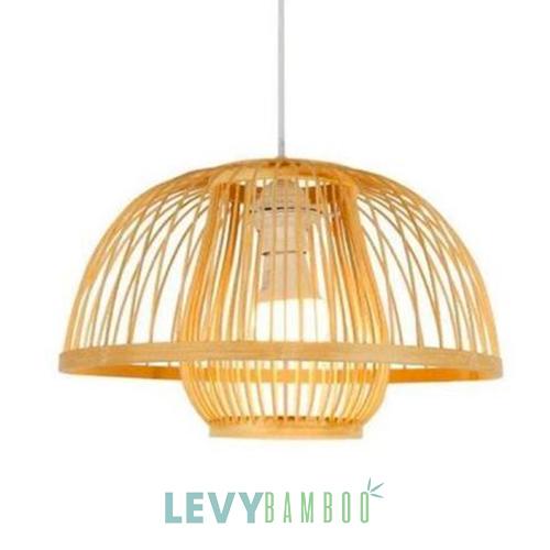 Đèn tăm tre hình nấm phi 40 cm - DMT005 - Bamboo Lighting