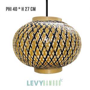 Đèn lồng mây tre 2 lớp trang trí – DMT245 – Bamboo Lighting