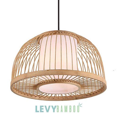 Đèn mây tre đan kiểu lồng chim – DMT242 – Bamboo Lighting