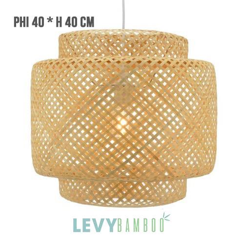 Đèn mây tre đan thủ công tinh tế – DMT236 – Bamboo Lighting