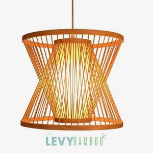 Đèn mây tre kiểu lồng vào nhau nghệ thuật – DMT275 – Bamboo Lighting