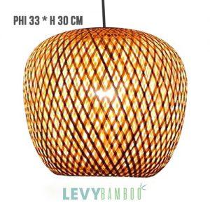 Đèn mây tre trang trí homestay phi 33x30 – DMT262 – Bamboo Lighting