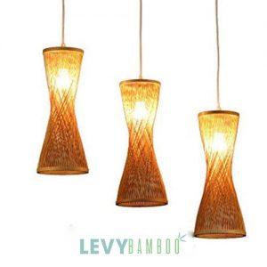 Đèn mây tre trang trí phòng khách – DMT251 – Bamboo Lighting