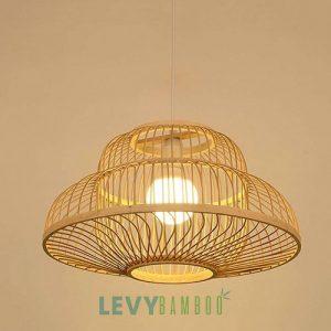 Đèn nan tre 2 lớp lồng vào nhau độc đáo – DMT249 – Bamboo Lighting