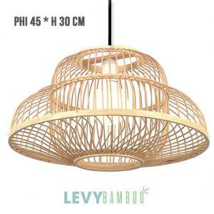 Đèn nan tre 2 lớp lồng vào nhau độc đáo – DMT249 – Bamboo Lighting1