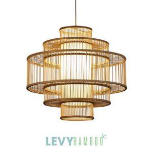 Đèn nan tre 4 lớp lồng vào nhau đẹp – DMT231 – Bamboo Lighting1