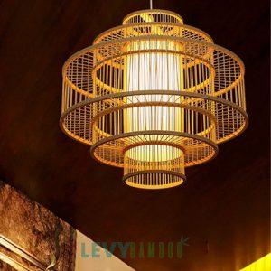 Đèn nan tre 4 lớp lồng vào nhau đẹp – DMT231 – Bamboo Lighting