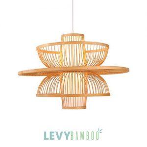 Đèn nan tre hình hoa sen trang trí – DMT233 – Bamboo Lighting