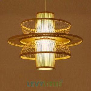 Đèn nan tre hình hoa sen trang trí – DMT233 – Bamboo Lighting1