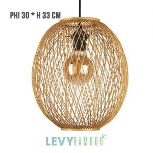 Đèn nan tre thiết kế tinh xảo trang trí quán cafe – DMT271 – Bamboo Lighting