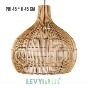 Đèn nan tre trang trí nhà hàng – DMT014 – Bamboo & Rattan Lighting