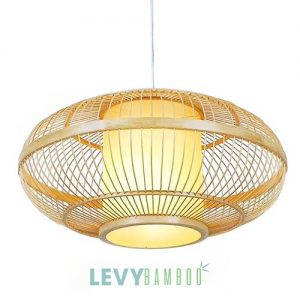 Đèn tăm tre có lồng vải trang trí – DMT215 – Bamboo Lighting1