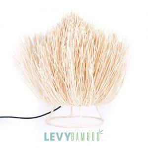 Đèn tăm tre để bàn phòng khách – DMT017 – Bamboo & Rattan Lighting