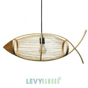 Đèn tăm tre hình cá – DMT211 – Bamboo Lighting