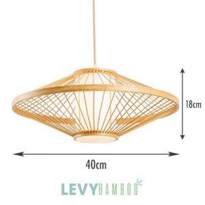 Đèn tăm tre hình đĩa bay trang trí – DMT232 – Bamboo Lighting