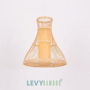 Đèn tăm tre lồng vải đứng trang trí bàn ăn – DMT273 – Bamboo Lighting