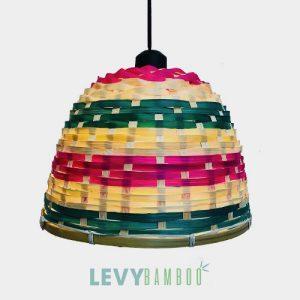 Đèn tăm tre nhuộm màu trang trí – DMT213 – Bamboo Lighting