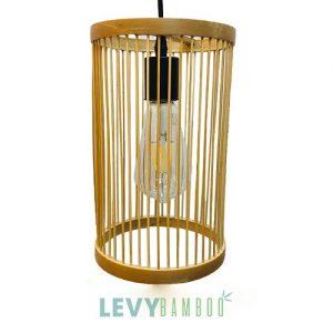 Đèn tăm tre thả trần hình trụ đứng – DMT214 – Bamboo Lighting1