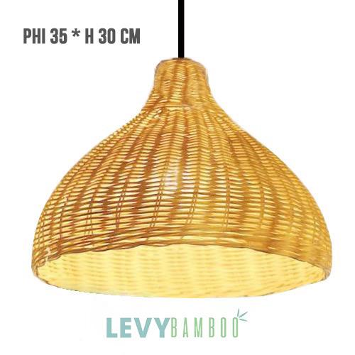 Đèn tăm tre trang trí nhà hàng xưa – DMT016 – Bamboo & Rattan Lighting