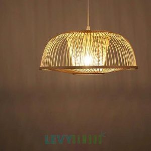 Đèn tăm tre trang trí phòng ăn – DMT256 – Bamboo Lighting