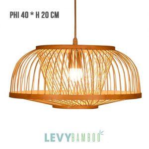 Đèn tăm tre trang trí phòng ăn – DMT256 – Bamboo Lighting1