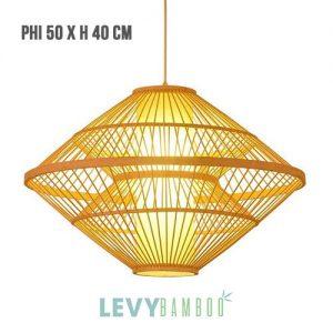 Đèn tăm tre trang trí phòng khách – DMT267 – Bamboo Lighting