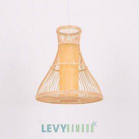 Đèn tăm tre uống cong có lồng vải đẹp – DMT222 – Bamboo Lighting1