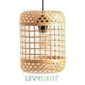 Đèn thả mây tre đan hình trụ đứng – DMT248 – Bamboo Lighting