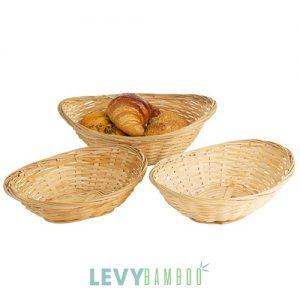 Khay tre đan đựng bánh mỳ, hoa quả - GK003 - Tray bamboo