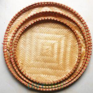 Mẹt Tre Mẫu mẹt tre đan cạp đỏ như hình nhiều kích thước từ 18cm - 48cm1