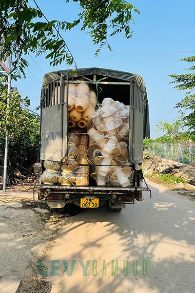 Cơ sở sản xuất mây tre đan cho cửa hàng và xuất khẩu ở Hà Nội