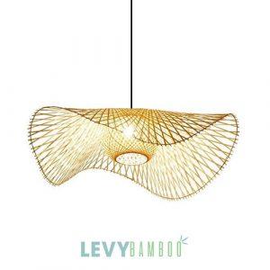 Đèn nan tre đan trang trí 2 mẫu kết hợp - DMT300 - Bamboo Lighting