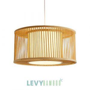 Đèn lồng tăm tre hình trụ trang trí nhà hàng - DMT294 - Bamboo Lighting