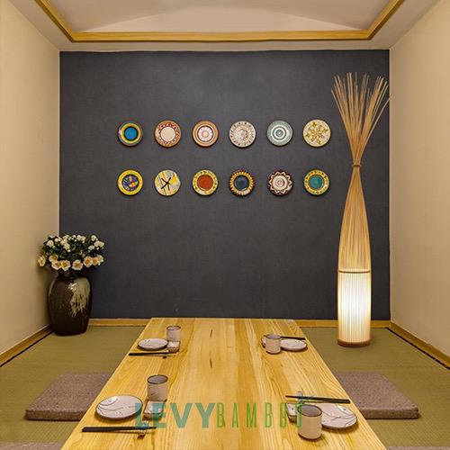 Đèn Mây Tre- Mẫu đèn mây tre đan trang trí cho quán cafe nhà hàng Hà Nội (19)