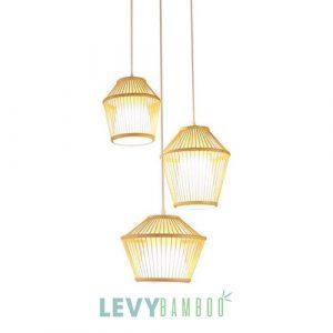 Mẫu đèn tăm tre nhỏ để thả chùm trang trí bàn ăn – DMT290 – Bamboo Lighting (Sao chép)