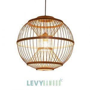 Làm đèn tăm tre thả hình cầu kiểu cách – DMT289 – Bamboo Lighting