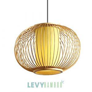 Đèn lồng vải bằng tăm tre tròn size nhỏ – DMT282 – Bamboo Lighting