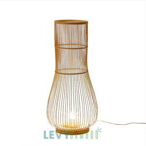 Đèn thả bàn tăm tre như củ hành trang trí cực đẹp – DMT287 – Bamboo Lighting