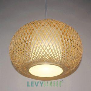 Đèn tre đan trang trí gía tốt có lồng vải - DMT303 - Bamboo Lighting