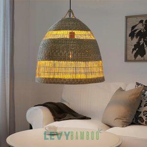 Đèn cói lục bình trang trí cực đẹp - DMT325 - Lê Vy Bamboo
