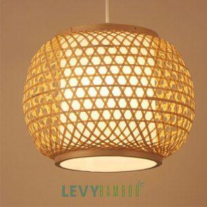 Đèn tre đan mắt cáo trang trí - DMT304 - Bamboo Lighting