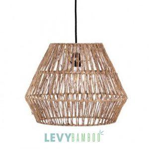 Đèn dây đay đan trên khung sắt trang trí - DMT324 - Lê Vy Bamboo