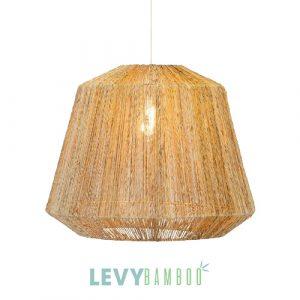 Đèn dây đay đan trên khung sắt giá rẻ - DMT326 - Lê Vy Bamboo