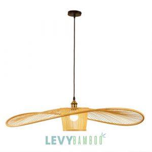 Đèn tăm tre hình cái nón nghệ thuật - DMT323 - Bamboo Lighting