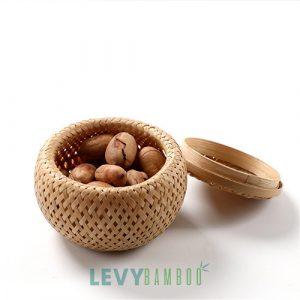 Hủ đựng đồ khô bằng tre đan