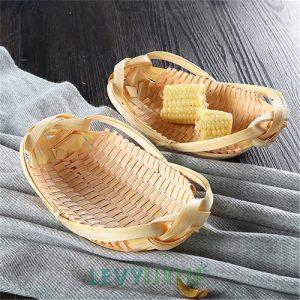 Khay đan nhỏ kiểu con thuyền đựng kẹo, hạt, trái cây