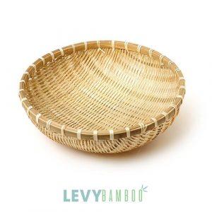 Rổ tre đan kín đựng rau củ quả cứng cáp